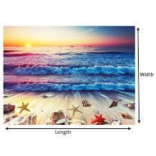 Beautiful Sunset Rocky Beach 3d Floor Mural Photo Flooring Wallpaper Wall Decal