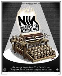 nine inch nails concert poster by emek