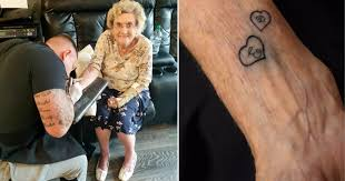 A 94-Year-Old Great Grandma Believed To Be The Oldest Women In The UK To  Get Tattooed - Small Joys