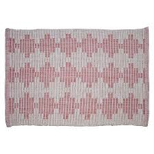 Pink Pixelated Woven Accent Rug
