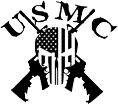 Usmc Punisher Skull Us Flag Crossed Ar15 Guns Car Or Truck Window Decal Sticker Rad Dezigns