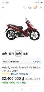 Xe Máy Honda Future Fi Vành Đúc - Đèn LED 2019