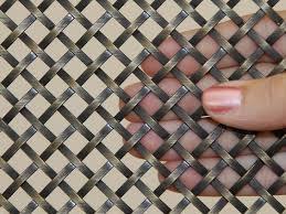 decorative metal mesh panels flat