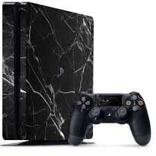 Black Hyper Marble Ps4 Slim Skin Uniqfind