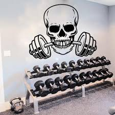 Fitness Center Wall Decal Workout Gym Vinyl Sticker Healthy Lifestyle Home Decor Wall Art Murals Wall Decals Buy At A Low Prices On Joom E Commerce Platform