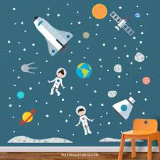Space Astronaut Wall Decals Maxwill Studio