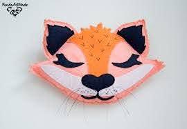 Woodland Fox Head Faux Taxidermy Felt Animal Head Wall Etsy