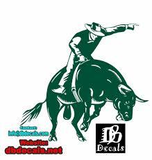 Cowboy Bull Riding Rodeo Horse Car Truck Window Wall Laptop Vinyl Decal Sticker