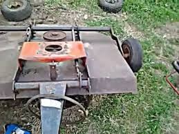 pull tow behind mower brush hog project