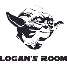 Yoda Lego Star Wars Cartoon Character Design Customized Wall Art Vinyl Decal Custom Vinyl Wall Art