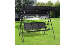 outdoor patio swing chair with canopy