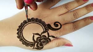 flower simple mehndi design back hand