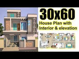 30x60 house plan with interior