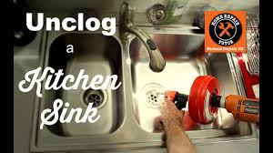 how to unclog a kitchen sink drain