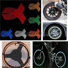 16 Strips Wheel Sticker Reflective Rim Stripe Tape Bike Motorcycle Car Fit For 18 Inch Wish