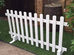 White Wooden Fence Hire Freestanding From Stage Men