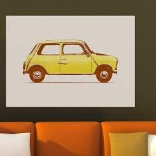 My Wonderful Walls British Leyland Mini 1000 Car Wall Decal Wayfair