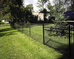 Pin By Chante Geneva On For The Home Black Chain Link Fence Backyard Fences Chain Link Fence