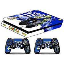 Amazon Com Skin Ps4 Slim Valentino Rossi Limited Edition Decal Cover Adesiva Playstation 4 Slim Sony Bundle Home Improvement