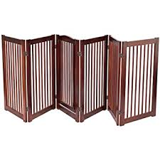 24 Configurable Folding Free Standing 3 Panel Wood Pet Dog Safety Fence W Gate