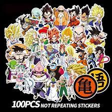 Dragon Ball Z Stickers 100pcs Anime Vinyl Sticker For Nintendo Switch Laptop Water Bottle Bike Car Motorcycle Bumper Luggag Walmart Com Walmart Com