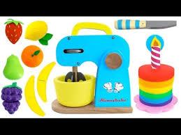 toy mixer playset make a play doh cake