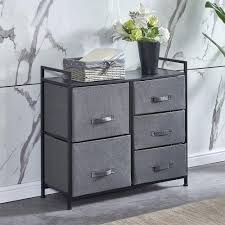 Amazon Com Homesailing Taupe Grey Bedroom Chest Of 5 Fabric Drawers Dresser Closet Living Room Unit Storage Sideboard Cabinet For Kids Room Clothes Toy Collection Nursery Tv Stand Cabinet 32inches Kitchen Dining