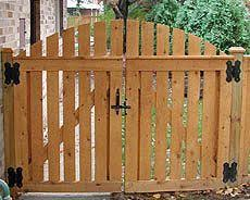Custom Wood Gate Designs By Elyria Fence A Cleveland Fence Company Since 1932 Wooden Garden Gate Wood Gate Garden Doors