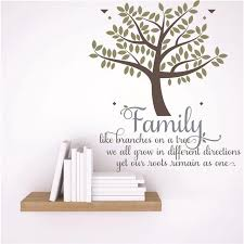 Custom Wall Decal Sticker Family Like Branches On A Tree We All Grow In Different Directions Yet Our Roots Remain As One Quote 15x15 Walmart Com Walmart Com