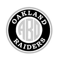Oakland Raiders Monogram Decal For Yeti Laptop Car Truck Tumbler Ebay
