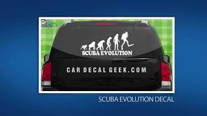 10 Awesome Scuba Diving Car Window Decals Stickers Youtube