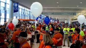 Honor Flight Rochester NY Airport 10-22 ...