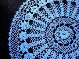 centro de mesa tejido a crochet