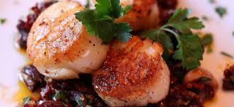 Seared Sea Scallops with Garlic, Sun ...