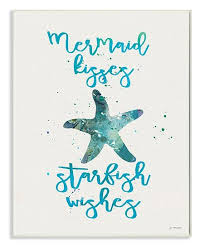 Stupell Industries Mermaid Kisses Starfish Wishes Wall Art Zulily
