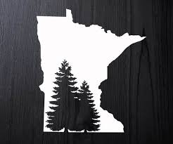 Minnesota Decal Minnesota Car Sticker Minnesota Window Decal Minnesota Window Sticker Minnesota Minnesota Gifts Window Decals Car Stickers