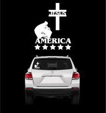 Jesus Trump America Donald Trump Sticker Decal Topchoicedecals