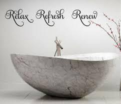 Relax Refresh Renew Vinyl Wall Decal Lettering Bath Lettering Words Decor Ebay