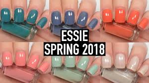 essie spring 2018 swatch and review