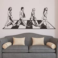 Wall Decal Beatles On Abbey Road Muraldecal Com
