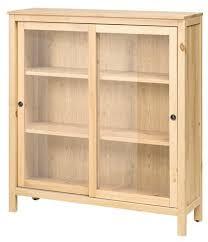 hemnes glass door cabinet light brown