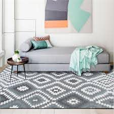 Trendy Modern Abstract Geometric Rhombus Plaid Grey Carpet Carpets For Living Room Carpet Kids Room Bedroom Rugs Floor Mats Carpet Aliexpress