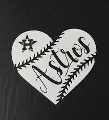 Huston Astros Baseball Heart Vinyl Car Decal Bumper Sticker Vinyl Shirt Ideas Of Vinyl Shirt Vinylshirts Shirts Huston Astros Baseball Heart Vinyl