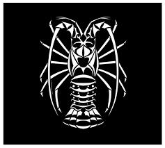 Spiny Lobster Decal Florida Lobster Diver White Vinyl Sticker Shark Zen