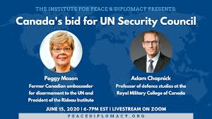 Panel Discussion: Canada's bid for UN Security Council - Institute for  Peace and Diplomacy