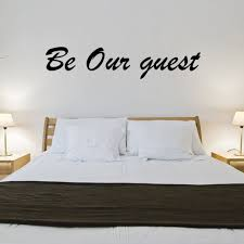 Be Our Guest Vinyl Wall Decal Quotes Jr408 Walmart Com Walmart Com