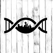 Amazon Com Seattle In My Dna Wall Decals Decor Usa City State Roots Rooted Art Stickers Decorations Vinyl Pictures For Office Studio Shop Home Kids Room Bedroom Door Window Rt070 Home