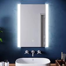 elegant modern bathroom mirror with led