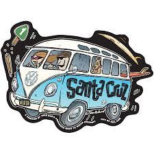 Decal Vw Bus Santa Cruz Sticker By Tim Ward