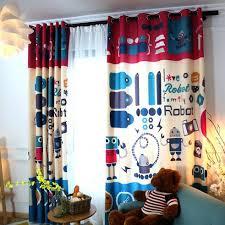 Kids Curtains Cartoon Robot Print Colorful Room Darkening